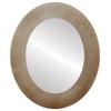 Flat Mirror - Cafe Oval Frame - Burnished Silver