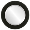 Beveled Mirror - Cafe Round Frame - Matte Black