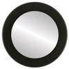 Flat Mirror - Cafe Circle Frame - Matte Black