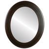 Flat Mirror - Cafe Oval Frame - Mocha