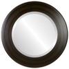 Beveled Mirror - Cafe Round Frame - Mocha