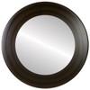 Flat Mirror - Cafe Circle Frame - Mocha