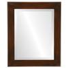 Beveled Mirror - Cafe Rectangle Frame - Mocha