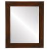 Flat Mirror - Cafe Rectangle Frame - Mocha