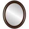 Flat Mirror - Newport Oval Frame - Mocha