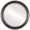 Beveled Mirror - Regatta Round Frame - Mocha