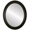 Flat Mirror - Messina Oval Frame - Rubbed Black