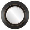 Beveled Mirror - Veneto Round Frame - Rubbed Black