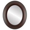 Flat Mirror - Lombardia Oval Frame - Mocha