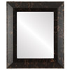 Flat Mirror - Lombardia Rectangle Frame - Veined Onyx