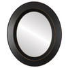 Flat Mirror - Lombardia Oval Frame - Rubbed Black
