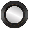 Flat Mirror - Lombardia Circle Frame - Rubbed Black
