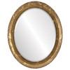 Beveled Mirror - Kensington Oval Frame - Champagne Gold