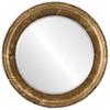 Beveled Mirror - Kensington Round Frame - Champagne Gold