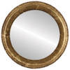 Flat Mirror - Kensington Circle Frame - Champagne Gold