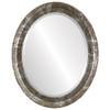 Beveled Mirror - Kensington Oval Frame - Champagne Silver