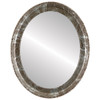 Flat Mirror - Kensington Oval Frame - Champagne Silver