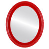 Flat Mirror - Kensington Oval Frame - Holiday Red
