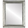 Flat Mirror - Kensington Rectangle Frame - Silver Leaf with Black Antique