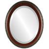 Beveled Mirror - Kensington Oval Frame - Vintage Cherry