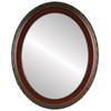 Flat Mirror - Kensington Oval Frame - Vintage Cherry