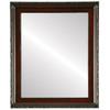 Flat Mirror - Kensington Rectangle Frame - Vintage Cherry