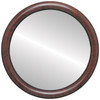Flat Mirror - Pasadena Circle Frame - Vintage Cherry