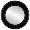 Flat Mirror - Marquis Circle Frame - Matte Black