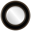 Beveled Mirror - Marquis Round Frame - Rubbed Black