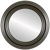 Flat Mirror - Regalia Circle Frame - Black Walnut
