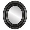 Flat Mirror - Regalia Oval Frame - Matte Black