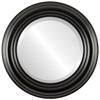 Beveled Mirror - Regalia Round Frame - Matte Black