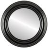 Flat Mirror - Regalia Circle Frame - Matte Black