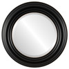 Beveled Mirror - Regalia Round Frame - Rubbed Black