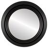 Flat Mirror - Regalia Circle Frame - Rubbed Black