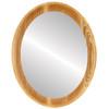 Flat Mirror - Vancouver Oval Frame - Honey Oak