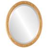Beveled Mirror - Sydney Oval Frame - Honey Oak