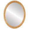 Flat Mirror - Sydney Oval Frame - Honey Oak