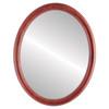 Flat Mirror - Sydney Oval Frame - Rosewood