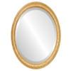 Beveled Mirror - Melbourne Oval Frame - Honey Oak