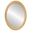 Flat Mirror - Melbourne Oval Frame - Honey Oak