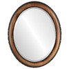 Beveled Mirror - Brookline Oval Frame - Toasted Oak