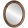 Flat Mirror - Brookline Oval Frame - Toasted Oak