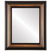 Flat Mirror - Lancaster Rectangle Frame - Walnut