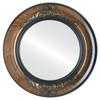 Flat Mirror - Winchester Circle Frame - Vintage Walnut