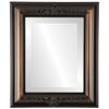 Beveled Mirror - Winchester Rectangle Frame - Walnut