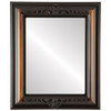 Flat Mirror - Winchester Rectangle Frame - Walnut