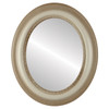 Flat Mirror - Chicago Oval Frame - Taupe