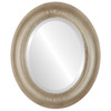 Beveled Mirror - Boston Oval Frame - Taupe