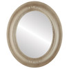 Flat Mirror - Boston Oval Frame - Taupe